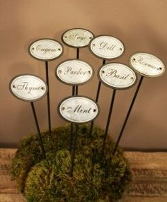 Set Of 8 Metal Garden Herb Stakes By Arty. $23.99. Made Of Metal.