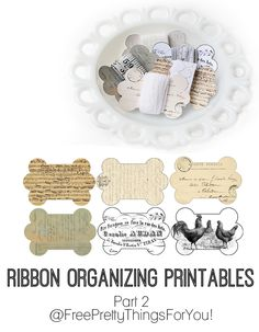 Ribbon/Lace Organizing Printables Part 2