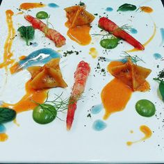Shrimps ravioli