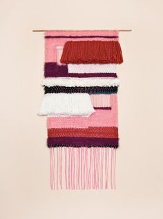 Comfy Cozy Couture: Wednesday Wish List | Pink Windows weaving by Brook & Lyn