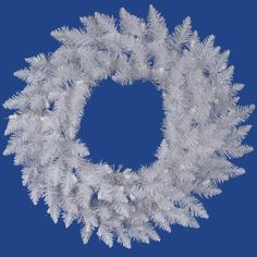 72 Inch, Unlit Artificial Christmas Wreath, White Spruce