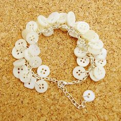 Wedding Belle Upcycled Button Bracelet