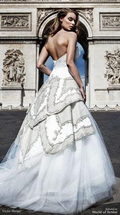Victor Harper Spring 2018 Couture Classic bridal ballgown with tulle skirt