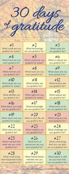 30 days challenge to awaken the gratitude in you