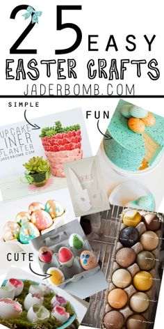 HURRY! Check out these 25 GREAT EASTER CRAFTS all in ONE spot for you! via www.jaderbomb.com