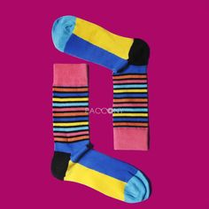 $8.99 Free Shipping Happysocks - Multi Colors Stripe Combed Cotton Socks on http://www.paccony.com/product/Happysocks-Multi-Colors-Stripe-Combed-Cotton-Socks-23673.html#