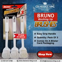 Household Products, Brush Set, Packing, Handle, The Unit, Easy, Bag Packaging, Face Brush Set, Door Knob