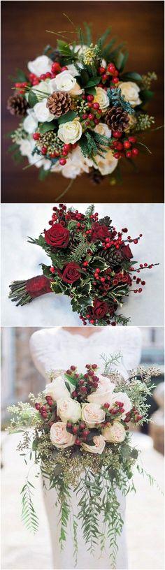 Christmas themed winter wedding ideas #wedding #christmas #winterwedding