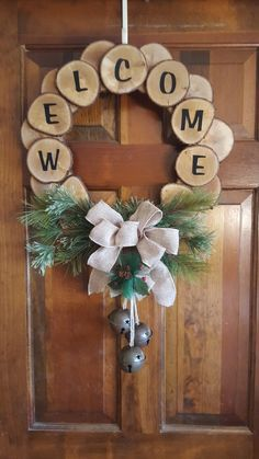 29 Perfect Diy Christmas Wearth Decoration Ideas Diy christmas decorations are fun projects to do with your family and friends. At the same time diy christmas decorations will come in handy when you . Decoration Christmas, Rustic Christmas, Christmas Time, Christmas Ornaments, Wooden Christmas Decorations, Diy Christmas Decorations For Home, Cheap Christmas, Christmas Snowman, Wood Slice Crafts