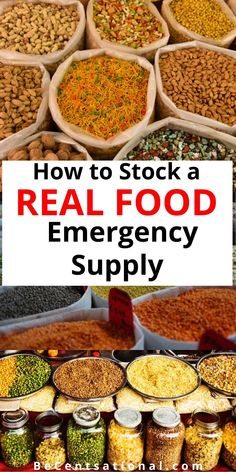 Stock a 2 week food supply list for an emergency. Foods with long shelf life such as canned tuna, canned veggies, and pasta. With this list of foods . Emergency Preparedness Food, Prepper Food, Emergency Food Storage, Emergency Food Supply, Emergency Preparation, Survival Food, Survival Prepping, Survival Quotes, Survival Skills