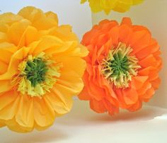 Your place to buy and sell all things handmade Giant Paper Flowers, Diy Flowers, Fabric Flowers, Hanging Paper Flowers, Tissue Paper Flowers, Tea Party Decorations, Bridal Shower Decorations, Paper Crafts, Diy Crafts