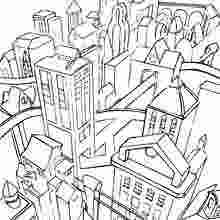 Coloring Pages Gotham City Skyline Coloring Pages New 97
