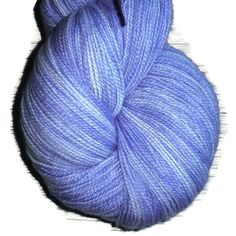 "Superwash Merino Wool Lace Yarn, 2-ply Lavender and White ""Lavender Feelings"""