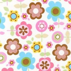Here's our favorite flannel fabric print! Sophie Flannel - Spring, just $6.99 a yard.