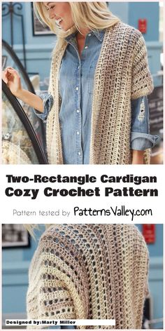 Two-Rectangle Cardigan - Cozy Crochet Pattern | Patterns Valley