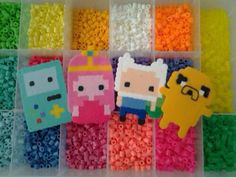 Adventure Time Pearler Beads, it would also make adorable necklaces!