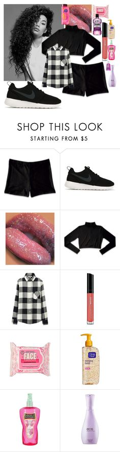 """Dance class"" by lovesyddiebear ❤ liked on Polyvore featuring NIKE, Uniqlo, Bare Escentuals, Soap & Glory, Clean & Clear, Cotton Candy and Eos"