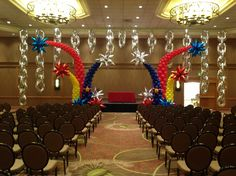 Stage decor for the QBN at the WBC, Denver 2014 #worldballoonconvention…