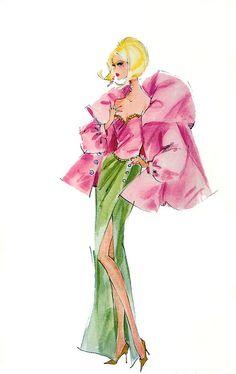 Fashion Illustration Design 〆(⸅᷇˾ͨ⸅᷆ ˡ᷅ͮ˒). Barbie Illustration by Robert Best - Arte Fashion, Fashion Dolls, Fashion Design, Fashion Clothes, Paper Fashion, Fashion Fashion, Dress Fashion, Trendy Fashion, Fashion Tips