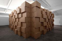 Zimoun Studio - 294 prepared dc-motors, cork balls, cardboard boxes