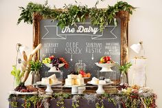 Great idea for a food bar at your wedding!