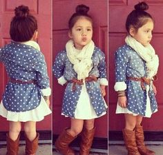 That outfit!!!❤️❤️❤️ the question is would my little one keep that scarf on...hmmm