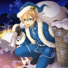 Image uploaded by Naho. Find images and videos about anime, anime boy and sword art online on We Heart It - the app to get lost in what you love. Eugeo Sword Art Online, Gun Gale Online, Accel World, Kirito, Holy Night, Christmas Illustration, Light Novel, Anime Comics, Online Art