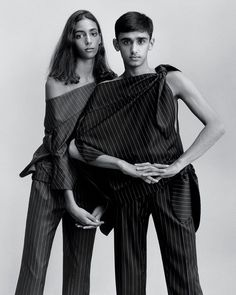 Nora Attal & Nader Chaudhry by Jamie Hawkesworth for T Style October 2014 [Editorial] - Fashion Copious