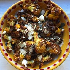 Healthy, delicious, and gorgeous: #roasted caramelized #cauliflower #fallfood