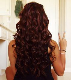 Curly Auburn Hair--I want my hair this color so bad