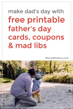 Make Dad's Day With These Free Printable Father's Day Cards   MomsWhoSave.com #FathersDay #free #printables