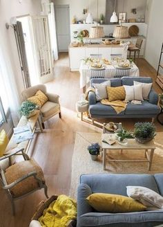 Having small living room can be one of all your problem about decoration home. To solve that, you will create the illusion of a larger space and painting your small living room with bright colors c… Home Living Room, Room Design, Interior, Home, Living Room Decor, House Interior, Interior Design, Home And Living, Living Design
