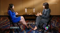 Photo of Barbara Bermudo and Michelle Obama on Primer Impacto | Barbara Bermudo Interviews Michelle Obama | 3/6/2013 (4 of 6).  By YogaFrogCaps