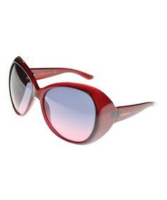 Another great find on #zulily! Dark Red Butterfly Sunglasses #zulilyfinds