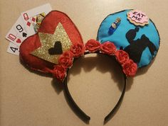 Alice in Wonderland minnie mouse ears  Made by: Catherine Jordan