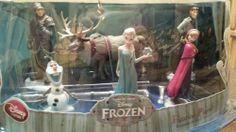 Auth Disney Store Frozen 6 Figurine Play Set Elsa Anna Olaf Sven Hans Kristoff  #Disney #Frozen