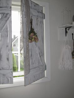 Shabby Chic shutters. Alternative to curtains.