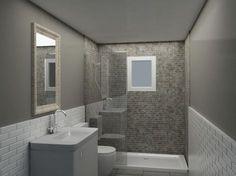 baños alicatados a media altura - Buscar con Google