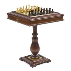 Ultimate Rosewood/Maple French Staunton Chess Set on Wormwood Table - CB186  sc 1 st  Pinterest & Chess Tables for Sale on Hayneedle - Chess Table Sets | basement ...