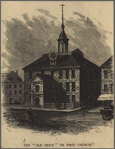 Notes: Located on Cornhill Court.; Copy photograph from wood engraving illustration in The Memorial History of Boston (Vol. 2, pg. 272, Edited by Justin Winsor, James R. Osgood & Co., Boston, 1882).