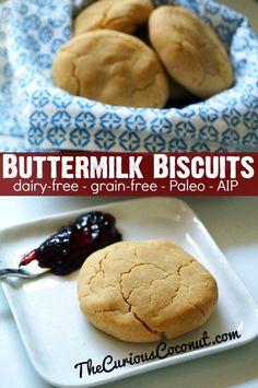 Butermilk Biscuits (#dairyfree, #grainfree, #paleo, #AIP) // TheCuriousCoconut.com