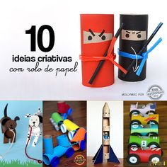 10 ideias criativas para fazer brinquedos com rolo de papel higiênico