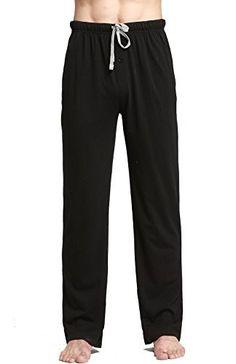 eba0c94f9e CYZ Cotton Knit Pajama Lounge Sleep Pants-Black-2XL