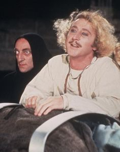 Young Frankenstein--Gene Wilder and Marty Feldman. Watched it in Brasil.