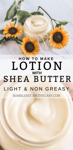 How to Make Lotion with Shea Butter I love this homemade lotion recipe! It's light and isn't greasy at all. It's also simple and pure, and easy to make. I love trying different essential oil blends to scent it! Organic Skin Care, Natural Skin Care, Organic Beauty, Organic Makeup, Diy Savon, Diy Lotion, Lotion Bars, Hand Lotion, Homemade Body Lotion