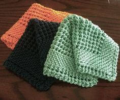 Diagonal Knit Dishcloth - Free Pattern