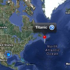 The spot in the North Atlantic where the wreck of the Titanic now lies, approximately 400 miles from the Grand Banks of Newfoundland, and about 2 and miles below the surface. Rms Titanic, Titanic Photos, Titanic History, Titanic Movie, Titanic Wreck, Titanic Sinking, Titanic Boat, Titanic Poster, Ancient History