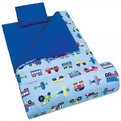 Olive Kids Trains Planes Trucks Sleeping Bag 1 Camping Gear With