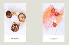 watercolor food on Behance