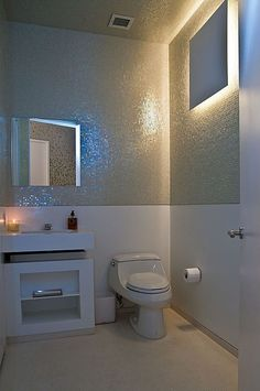 Carpet, Marble - simple, Contemporary, Modern, Undermount, Powder/Half Bath, Wall sconce